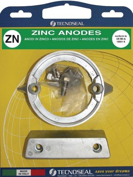 Grouper hanging zinc anodes