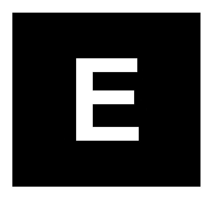 SELF-ADHESIVE LETTER, 20 cm, Letter E, WHITE