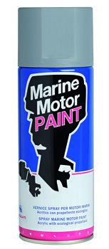 Foto - MARINE MOTOR PAINT, METALLIC GOLD GREY