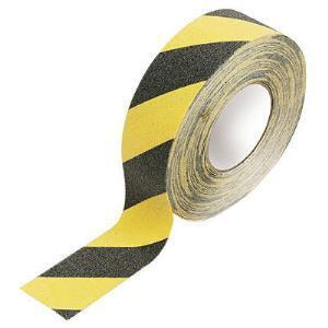 Foto - ANTI-SKID TAPE, BLACK-YELLOW, 50 mm