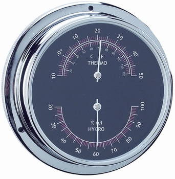 THERMOMETER / HYGROMETER- ANVI, BLACK SERIES