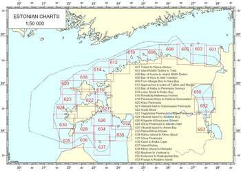 NAVIGATIONAL CHARTS OF ESTONIA no.612 - KEIBU BAY TO SUURUPI PENINSULA