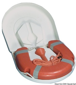 Foto - ACCESSORIZED HORSESHOE LIFEBUOY, WHITE