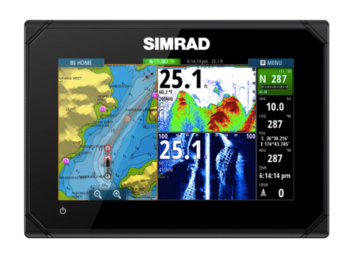 Foto - SIMRAD NS GO7 XSE, CHIRP MID/HIGH/455/800 + TOTALSCAN™
