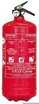 Foto - FIRE EXTINGUISHER POWDER, 3 kg