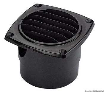 Foto - HOSE VENT WITH  COLLAR, 92 x 92 mm, BLACK