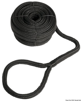 Foto - MOORING LINE WITH EYE, 16 mm, 11 m, BLACK