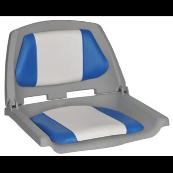 Foto - FISHERMANS SEAT FOLDING PADDED, BLUE/WHITE