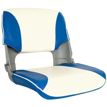 SKIPPER SEAT FOLDING, UPHOLST, BLUE/WHITE