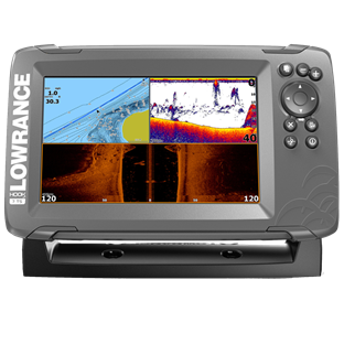 Foto - LOWRANCE HOOK2-7 TRIPLESHOT ROW, CHIRP + DOWNSCAN™ + SIDESCAN™