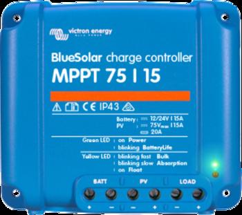 Foto - VICTRON ENERGY BLUESOLAR MPPT LAADIMISKONTROLLER 12/24 V, 15 A
