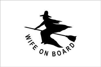 Foto - FLAG- WIFE ON BOARD, 20 x 30 cm