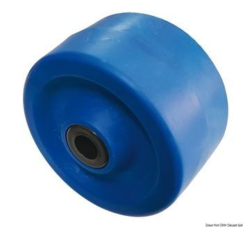 Foto - SIDE ROLLER, 135 x 75 x 22 mm, PVC, BLUE