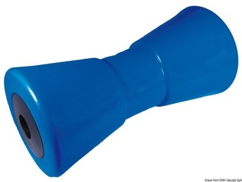 Foto - CENTRAL KEEL ROLLER, 95 x 200 x 17 mm, PVC, BLUE