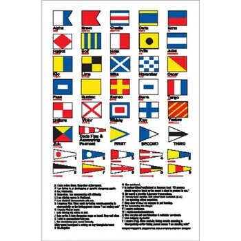 BOAT STICKER - CODE FLAGS, 105 x 160 mm