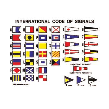 Foto - BOAT STICKER - CODE FLAGS, 160 x 120 cm