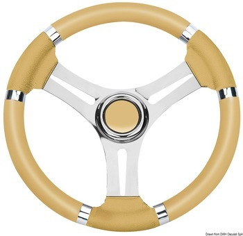 STEERING WHEEL, 350 mm, S/S, IVORY