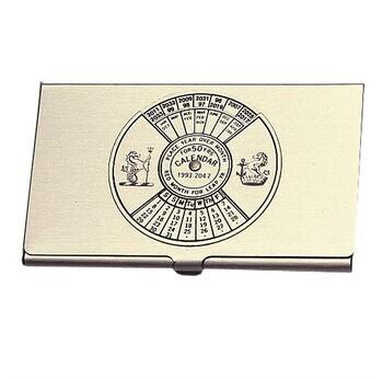 Foto - BUSINESS CARD HOLDER- 50 YEAR CALENDAR