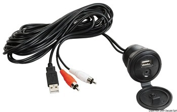 Foto - USB-AUX CABLE FOR M3-TFT WITH WATERTIGHT PANEL