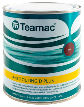 Foto - ANTIFOULING D+, TEAMAC, RED, 2,5 l