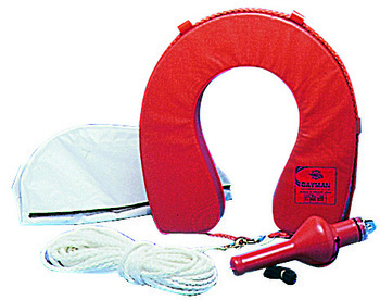 Foto - ACCESSORIZED HORSESHOE LIFEBUOY, BLUE