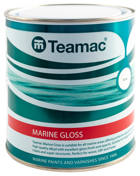 Foto - TOPCOAT- TEAMAC MARINE GLOSS, WHITE, 2,5 l