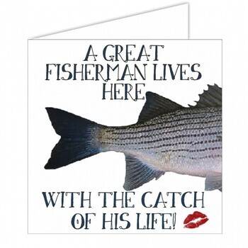 Foto - MERETEEMALINE POSTKAART- A GREAT FISHERMAN LIVES HERE..