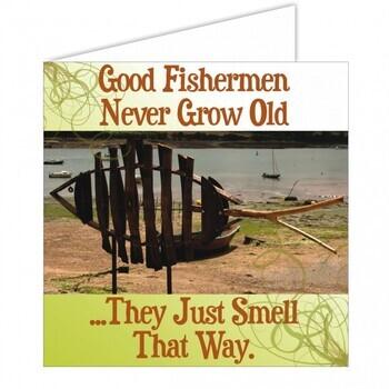 Foto - MERETEEMALINE POSTKAART- GOOD FISHERMEN..