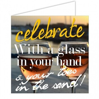 Foto - MERETEEMALINE POSTKAART- CELEBRATE / GLASS IN YOUR HAND