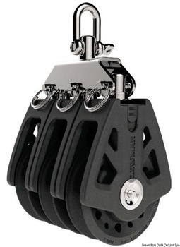 TRIPLE BLOCK, 6-10 mm, LEWMAR SYNCHRO