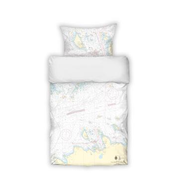 Foto - BED LINEN- SEA MAP, ESTONIAN NORTH COAST, FINNISH BAY, NAISSAAR