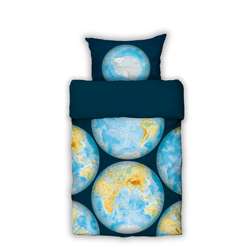 Foto - BED LINEN- GLOBE MAP
