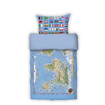 Foto - BED LINEN- WORLD MAP